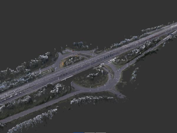 pointcloud of M4 motorway junction