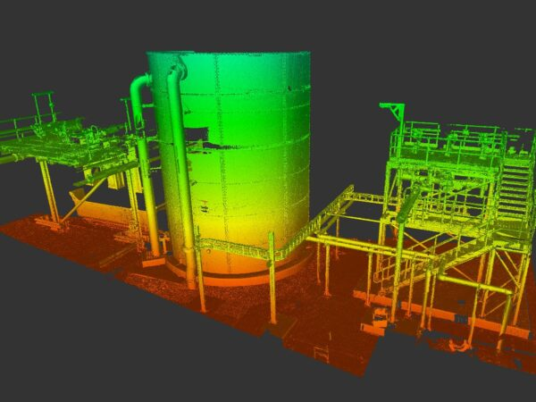 3d point cloud model of tank and plant structure
