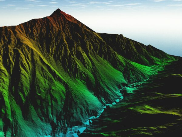 digital terrain model of mountain region