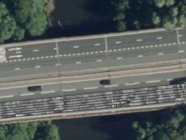 bridge deck overview from pavement survey
