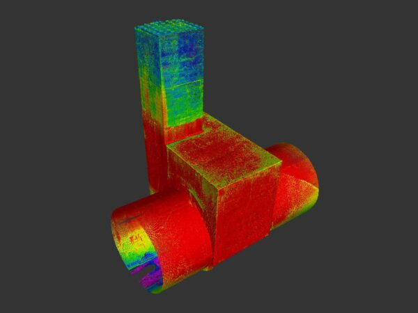 point cloud of culvert section