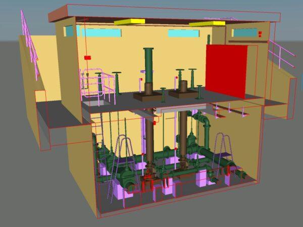 3d model of internal plant